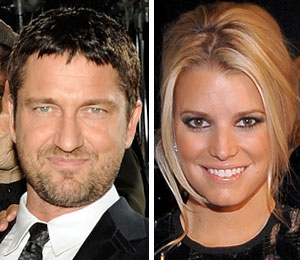 Gerard Butler and Jessica Simpson are 'just friends.'
