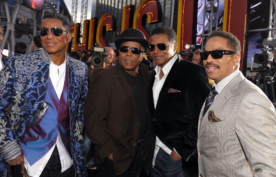 The Jackson brothers at the premiere of 'This Is It'