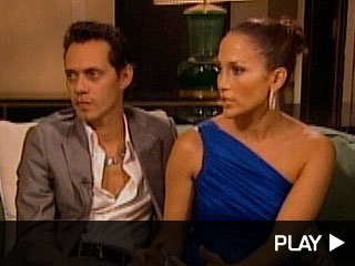 Mark Anthony and Jennifer Lopez in Miami with Extra