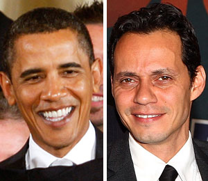 Marc Anthony celebrated his birthday this year -- with President Obama!