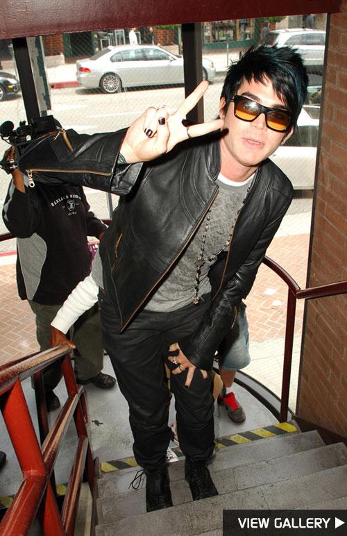 Adam Lambert spotted in Beverly Hills
