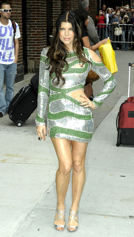 Fergie in Pucci on the Late Show