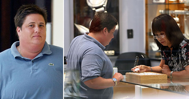 chaz bono looks at engagement rings