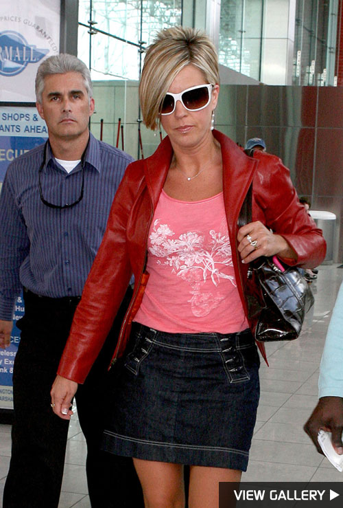 Kate Gosselin and bodyguard Steve Neild at BWI airport in Baltimore