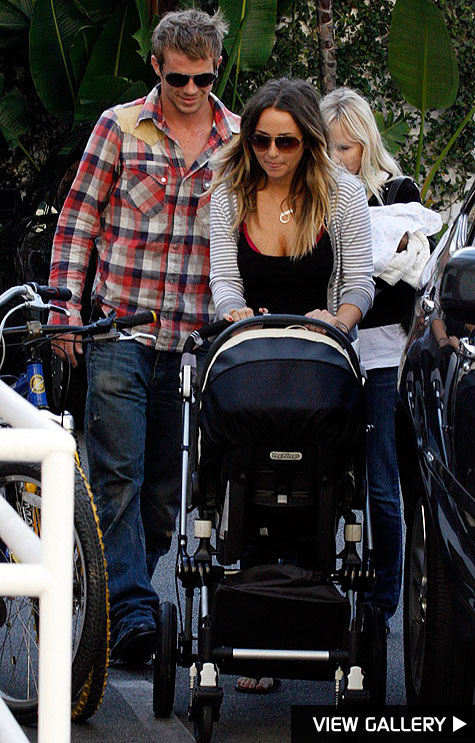 cam gigandet steps out with his family