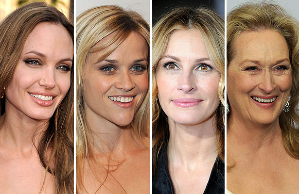 angelina jolie, reese witherspoon, julia roberts and meryl streep