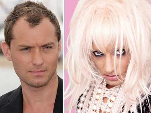 Jude Law in a wig for Rage